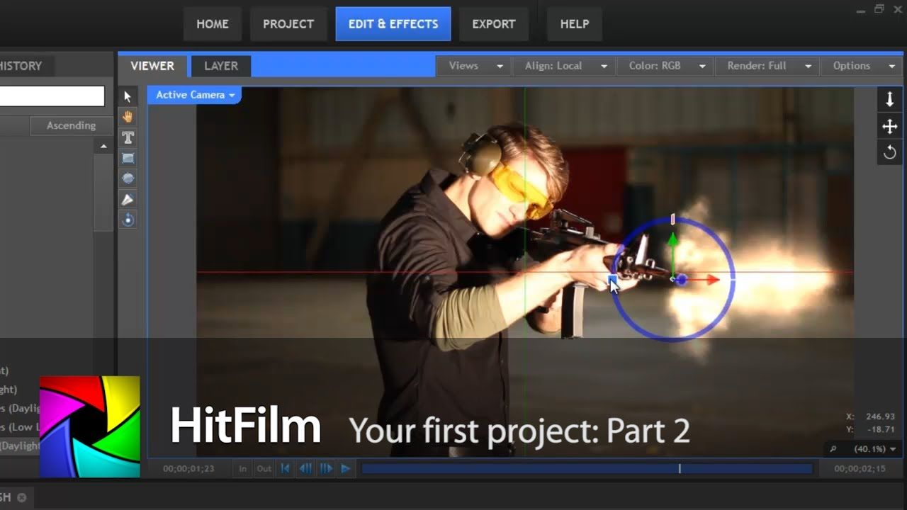 Your first project part 2 hitfilm video effects animations your first project part 2 ccuart Images