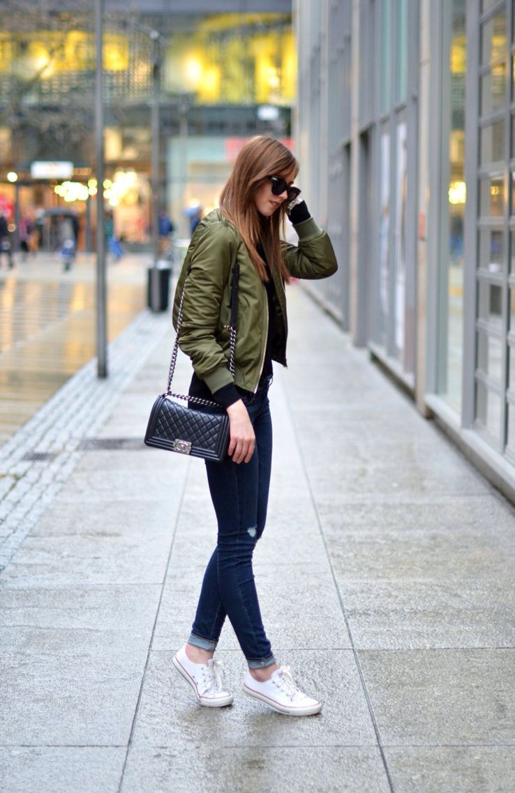 Green Bomber Jacket Look Clothes Pinte