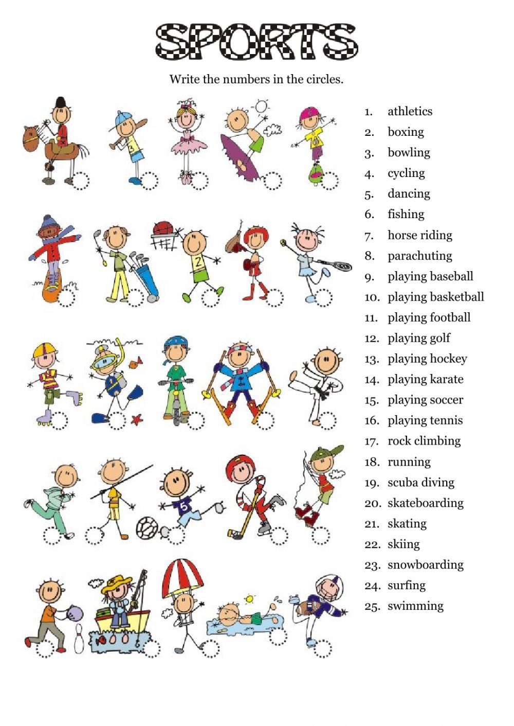 Worksheets Esol Worksheets sports interactive worksheet the esl english worksheets eslworksheets