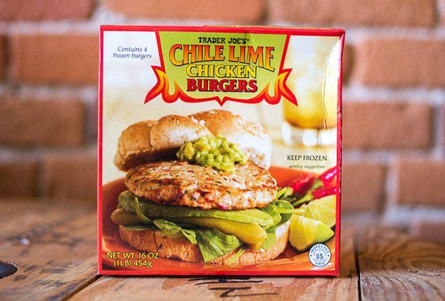 The 17 Most Popular Items At Trader Joe S Trader Joes Food Chili Lime Chicken Burgers Trader Joes Recipes