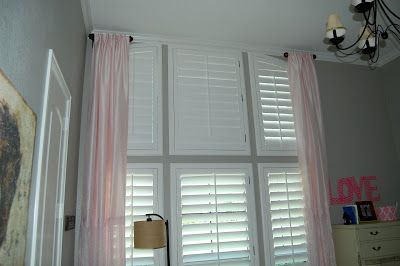 Girly Pink And Green Bedroom Short Curtain Rods Colorful