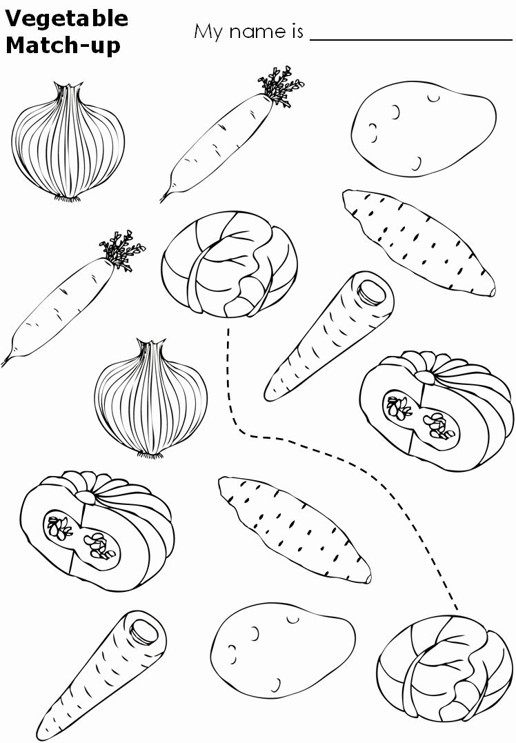 Coloring Vegetables Worksheets Pdf Viati Coloring En 2020