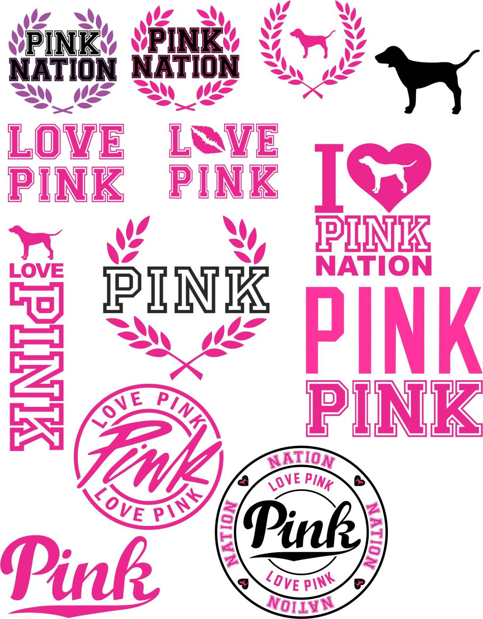 Pink Logos svg and pdf Etsy in 2020 Cricut monogram