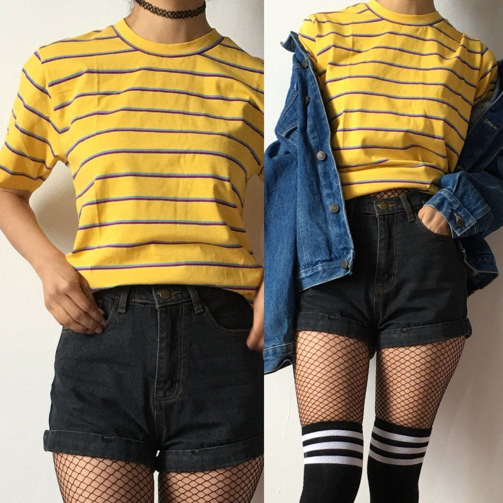 90S GRUNGE STRIPED Unisex Tee In 2019
