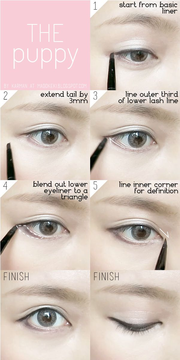 10 Ways To Wear Eyeliner For Everyday Looks Madokeki Makeup Reviews Tutorials And Beauty Puppy Eyes Makeup Korean Eye Makeup Makeup Tutorial Eyeliner