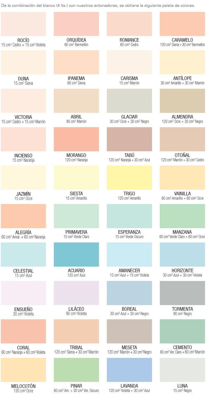 Producto nombrecartacolores 692 1321 estilos - Paleta de colores para paredes interiores ...