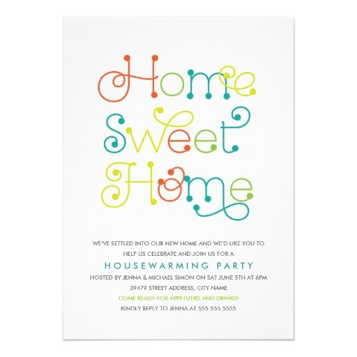 Fun \ Whimsical Housewarming Party Invitation Entertaining - housewarming invitation template