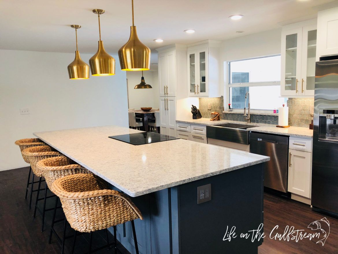 Hard Work Pays Off Galley Kitchen To Open Concept Life On The Gulfstream Kitchen Remodel Small Galley Kitchen Remodel Small Galley Kitchen Design Galley kitchen remodel to open concept