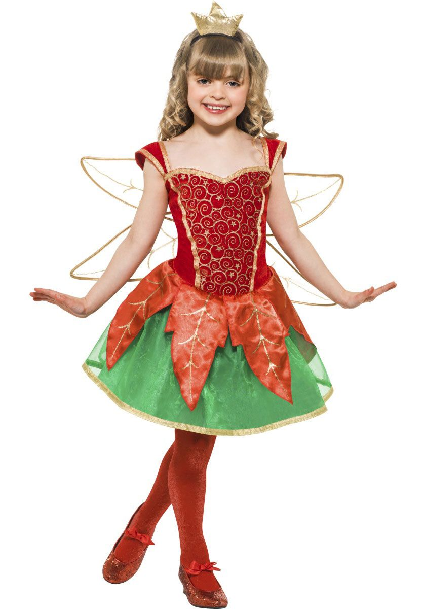 Kids Christmas Fairy Elf Costume - Childrens Christmas Costumes at ...