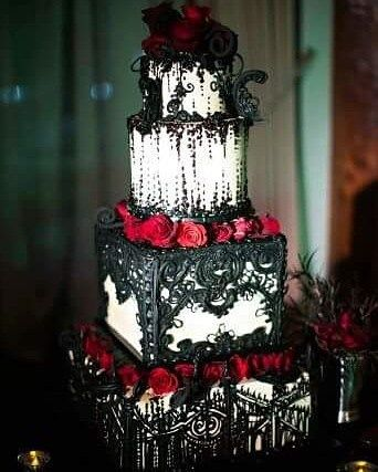 Gothic Wedding Cake Check us out on Fb- Unique Intuitions ...