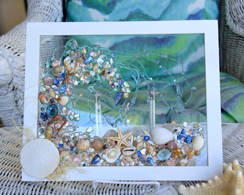 Sea Glass Art For Beach Decor Beach Glass Art Of Wave Made Beach Glass Art Sea Glass Decor Sea Glass Crafts