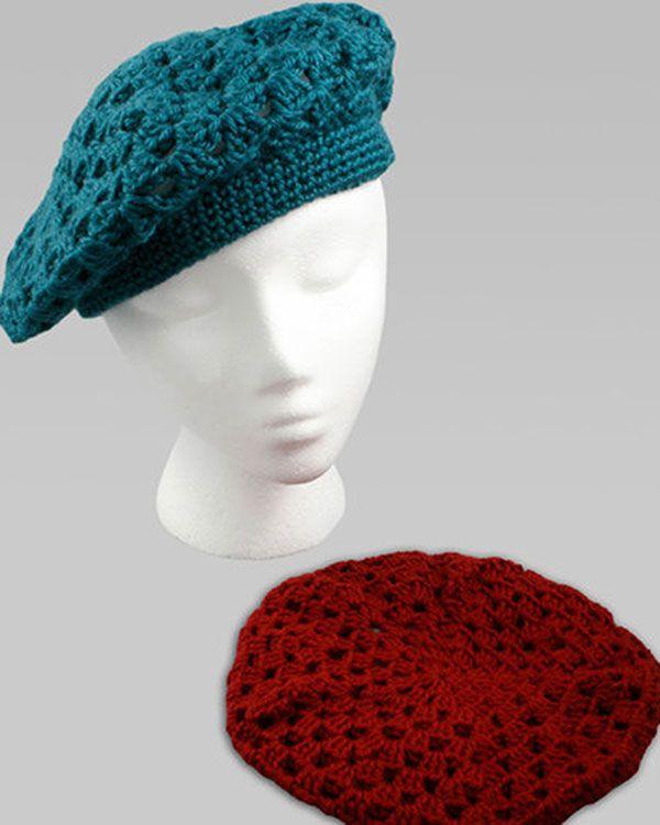 Free Crochet Beret Crochet Pattern From RedHeart.com | Crochet ...