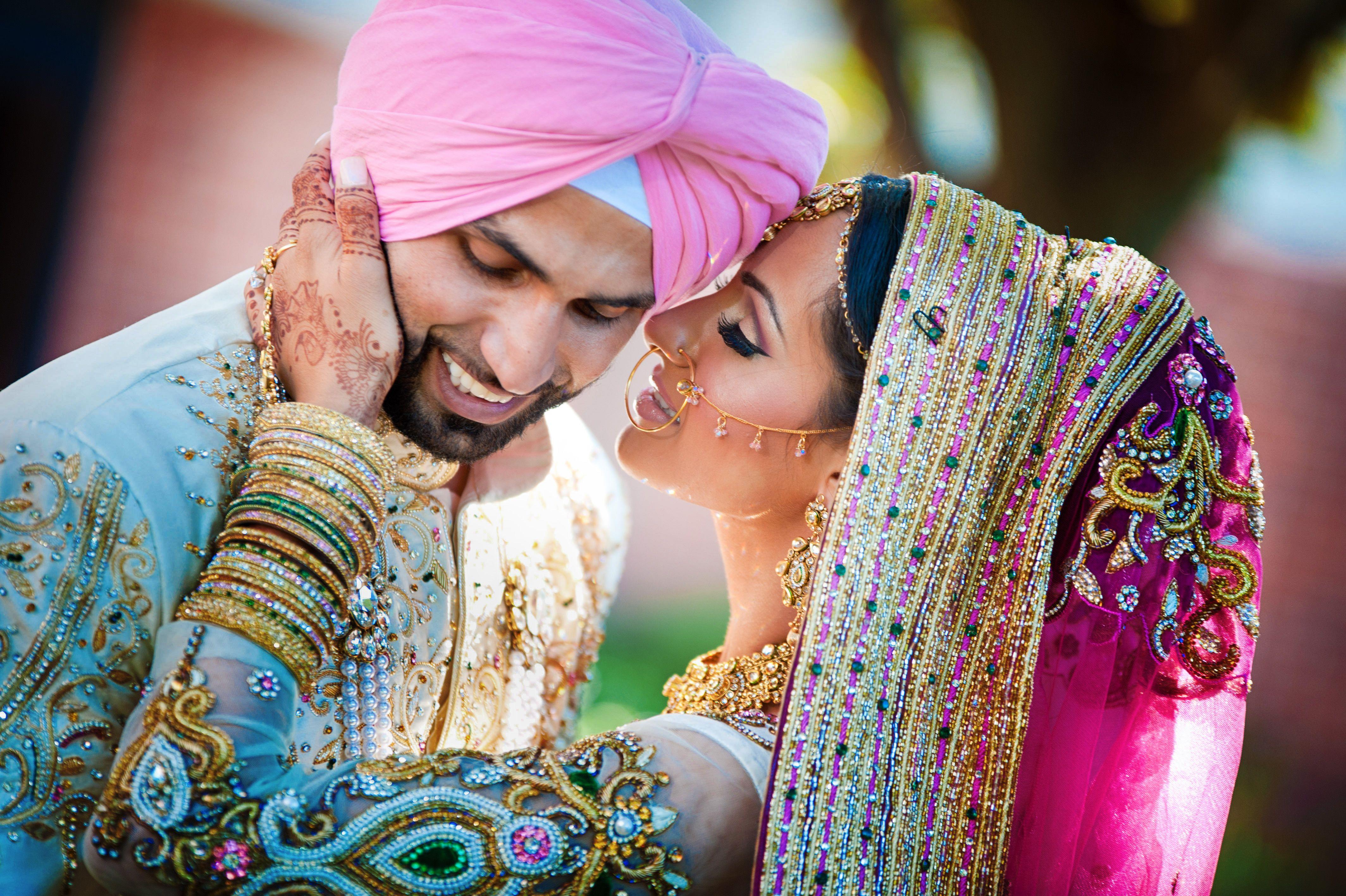 Punjabi wedding Indian Wedding Pink and Green Indian