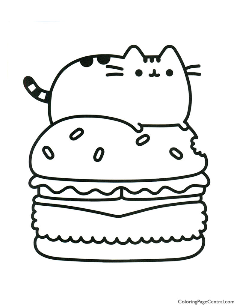 Pusheen Cat Coloring Pages Free You'll Love
