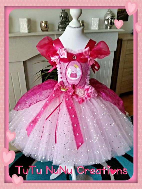 3fc7f3d6d103 Handmade Girls Princess Peppa Pig Tutu Dress | Scarlett Dress ...