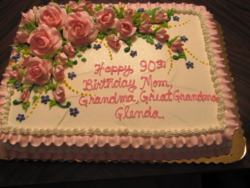 Birthday Cake Roses For Mom Special Cakes 90th