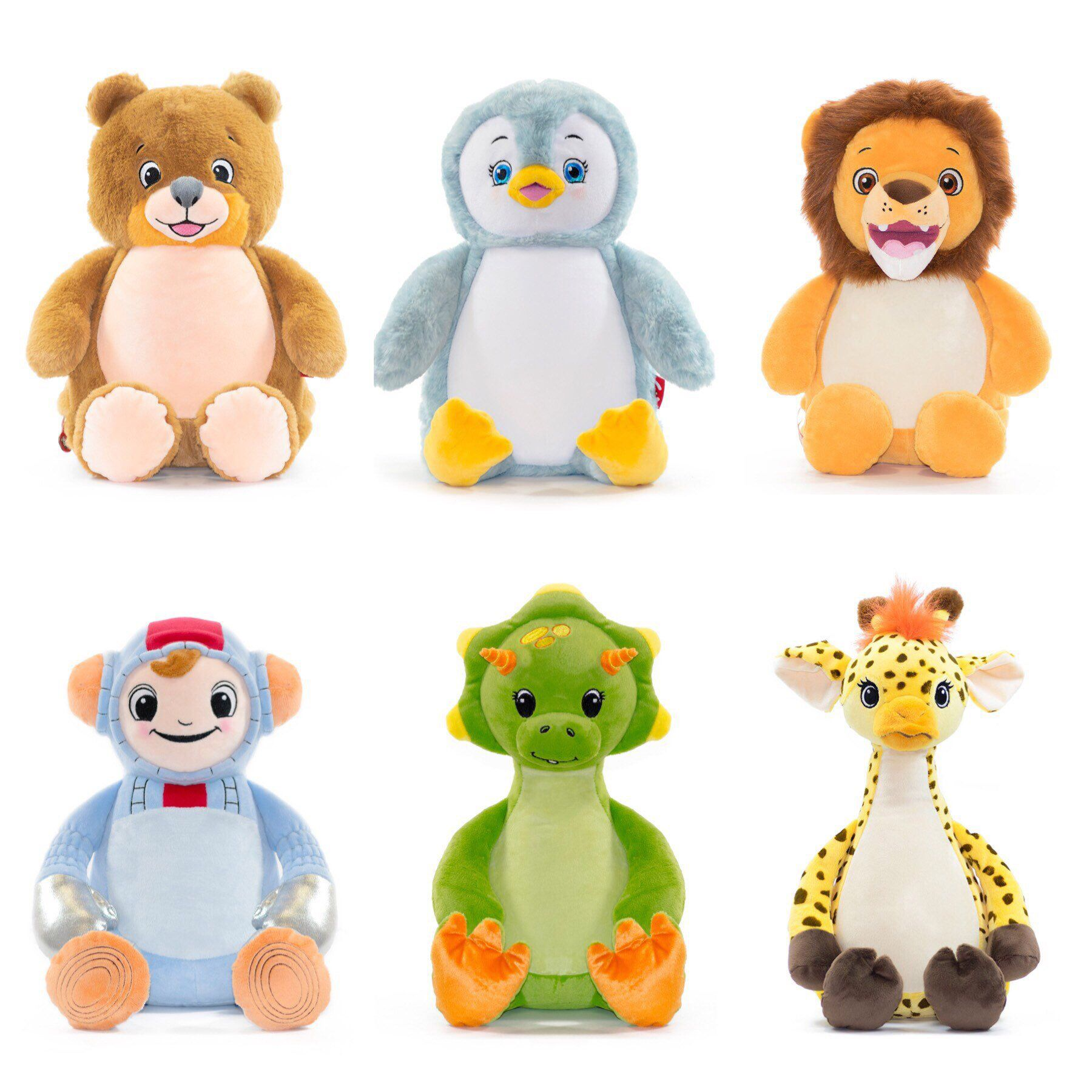 Personalized Plush Animals Embroidered Stuffed Animals Cubbies Plush Toys Kids Gift Cute Penguin