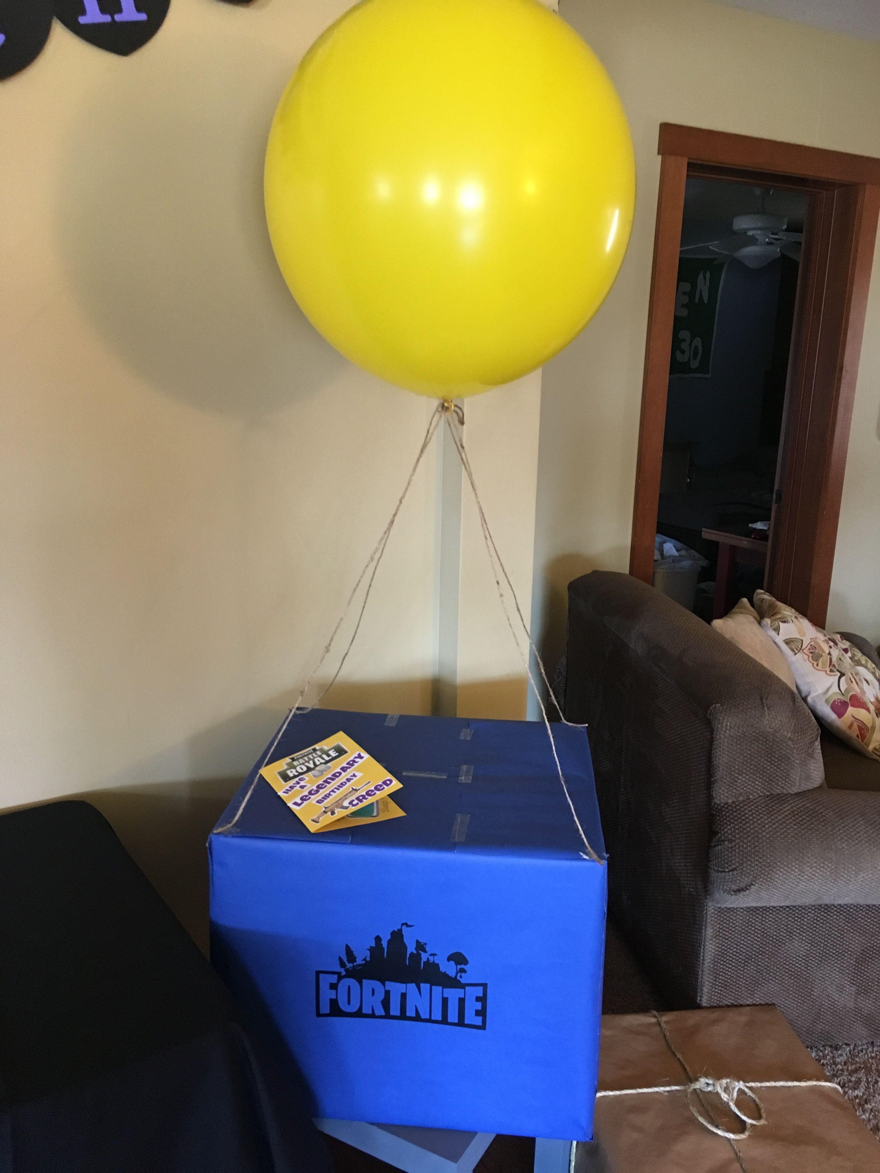 Fortnite supply drop | birthday party ideas | Birthday decorations