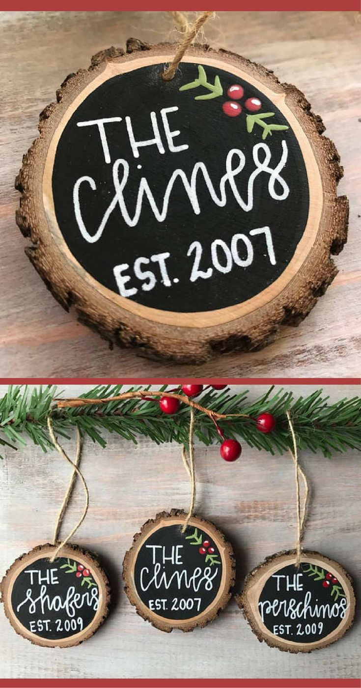 Personalized Christmas Ornaments Great Present For A Christmas