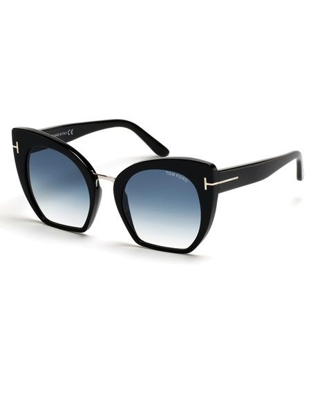 234897a48d9 TOM FORD Samantha Cropped Cat-Eye Sunglasses