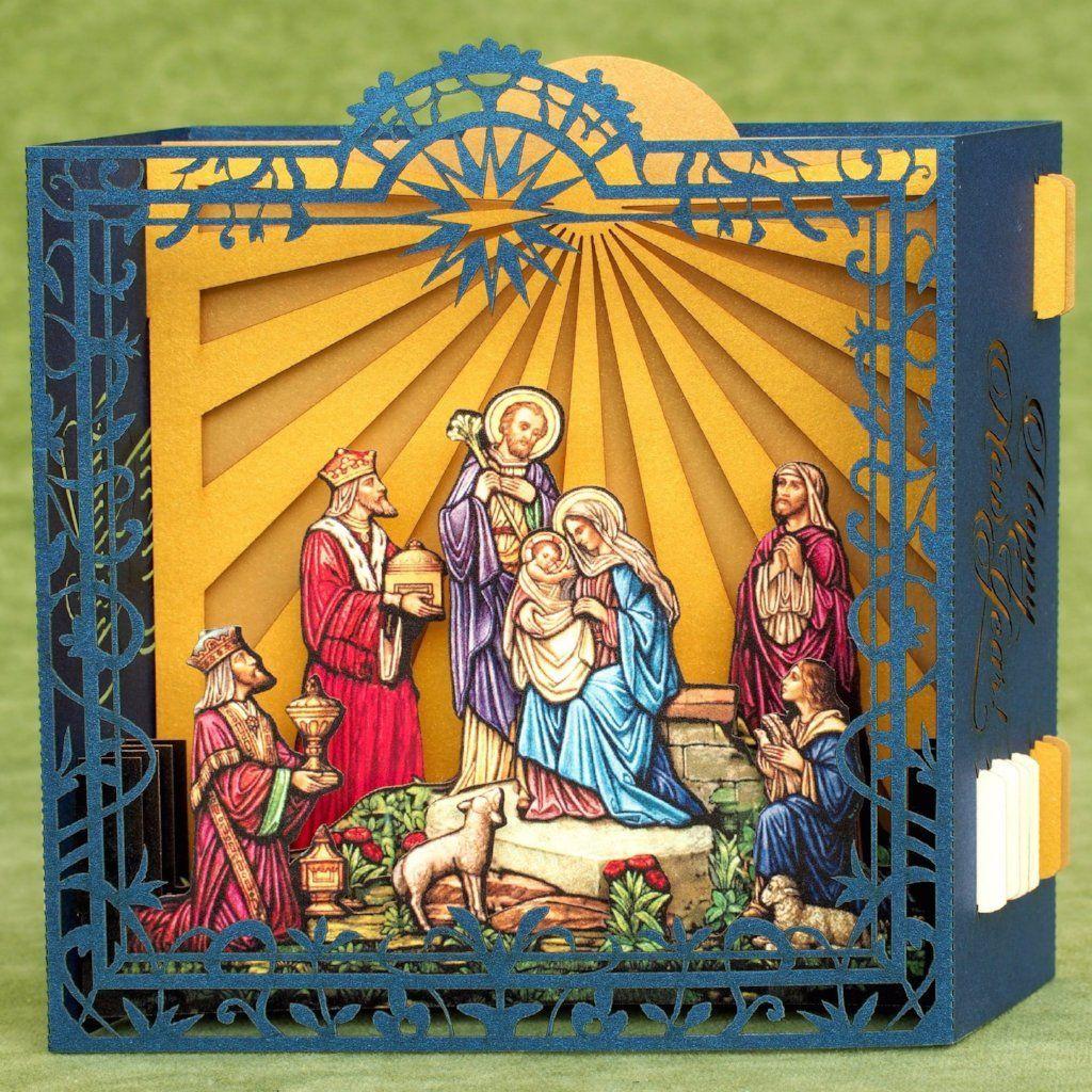 Jesus Birth Nativity Scene Christmas Pop Up Card Christmas Card Crafts Christmas Pops Card Craft