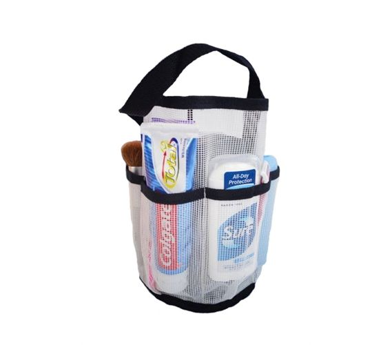 Shower Caddy For College Canvas Mesh Tote  Strongest Shower Bag  Black Mesh College And Dorm