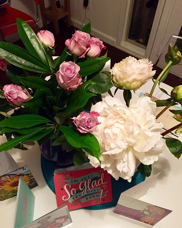 So Nice To Come Home From Bday Vacation And Have Beautiful Flowers Thank You Sister Peonies Roses T Grateful Backhome Pacificbeach Imaluckygal