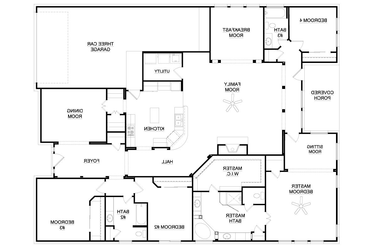 4 Bedroom House Plans Four Bedroom House Plans Interesting Single Story 4 Bedroom House In 2020 6 Bedroom House Plans Bedroom House Plans House Plans Australia