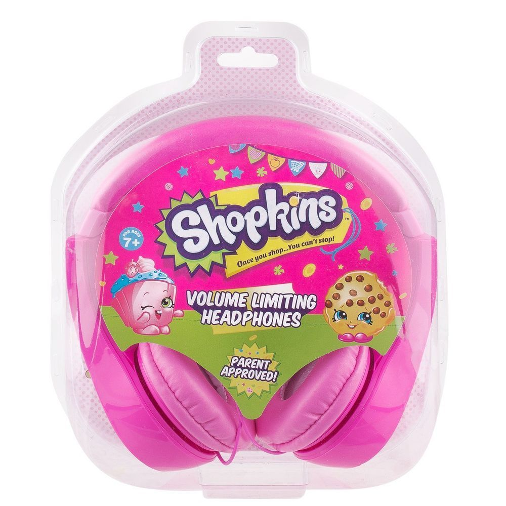 Shopkins Headphones Pink Volume Limiting Electronic Holiday Girl s Gift Toy   Sakar  35 8e965fa5bec9