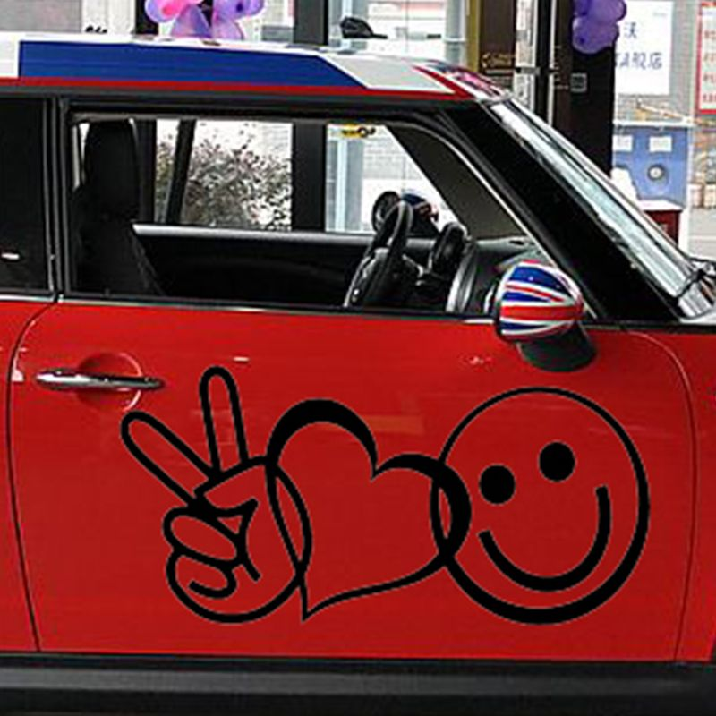 Cheap stickers stickers buy quality car window sticker directly from china car sticker suppliers x 2 x peace love happiness one for each sidevinyl decal