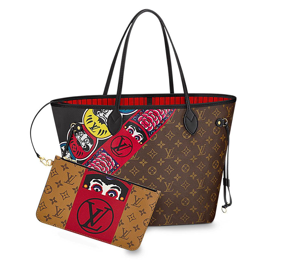 39c5070ab6f9 Louis Vuitton s Kabuki-Themed Cruise 2018 Bags are Already In Stores  We  Have Pics + Prices - PurseBlog