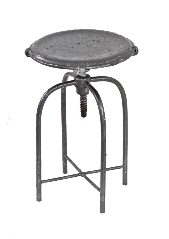 Vintage C. 1930u0027s American Medical Adjustable Height Bent Tubular Steel  Four Legged Hospital Examination