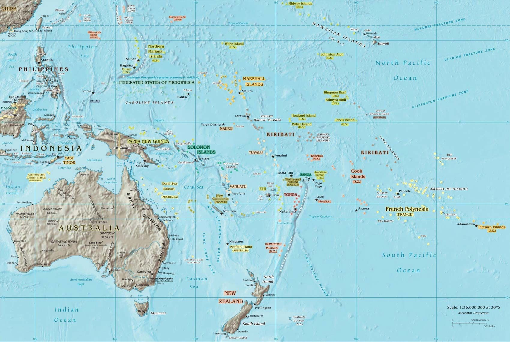South Pacific Islands World Map Go Here To Learn About Great Travel