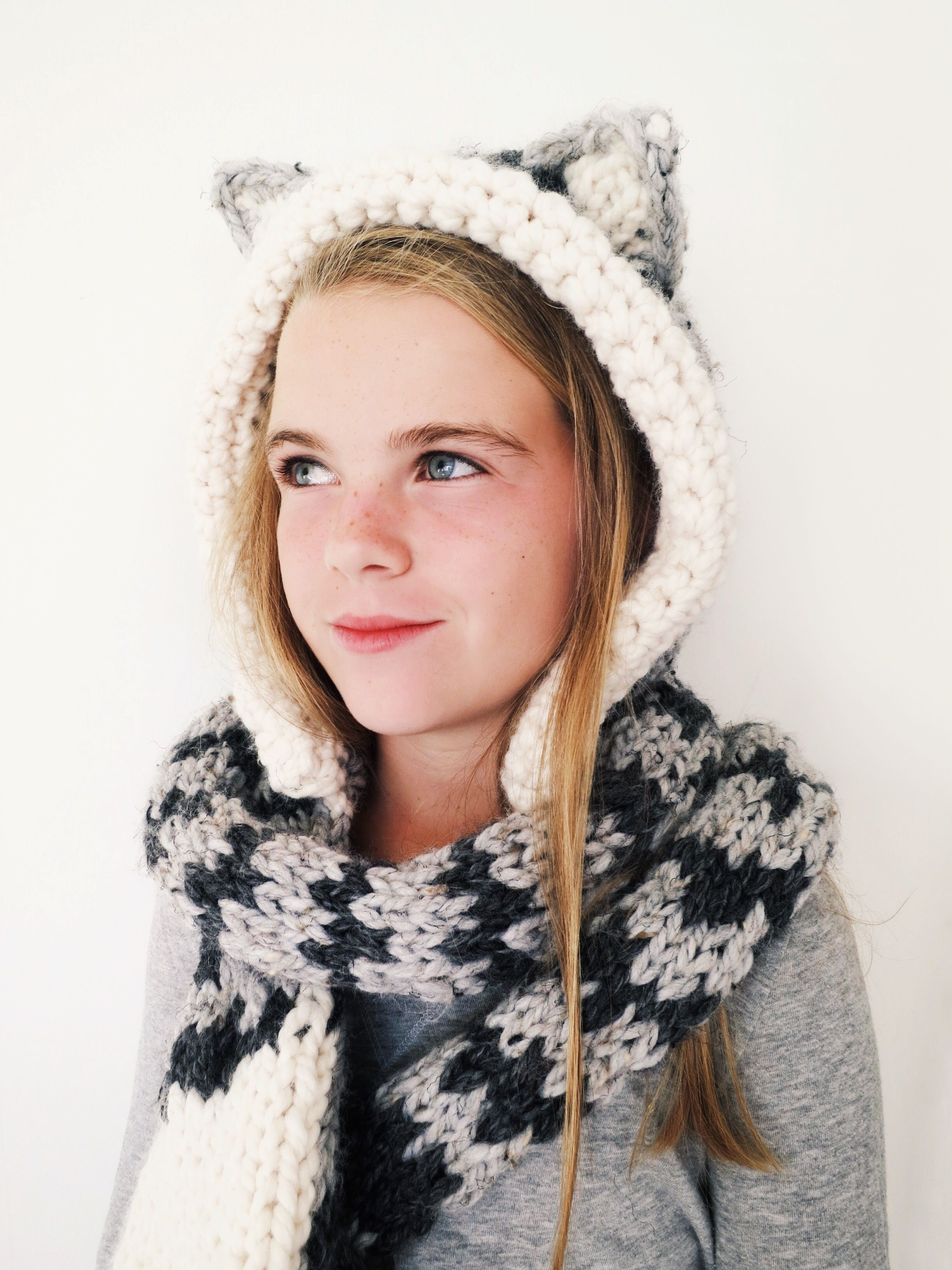 Tilly the Tabby Cat Hood Pattern // knitting pattern for cat-themed ...