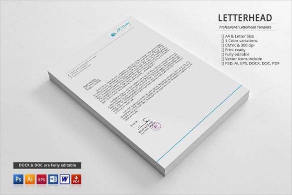 Letterheads Templates Free Download Impressive Psd Letterhead Template  51 Free Psd Format Download  Free .