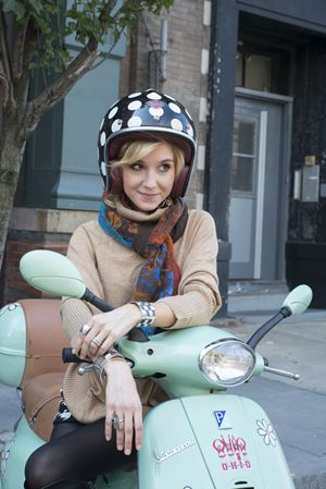 The Fall 2013 Photo-shoot #amyconway #vespa #fall #fashion #inspirationaljewelry