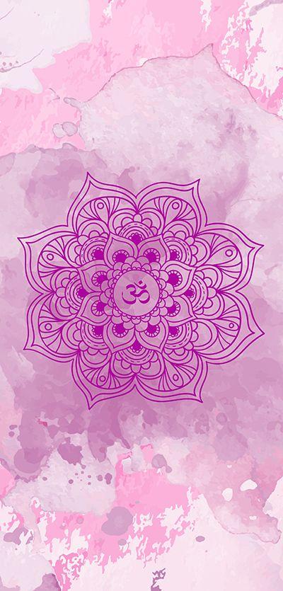 ૐ Om ૐ Purple Mandala Mandalas Mandala Fondos Fondos