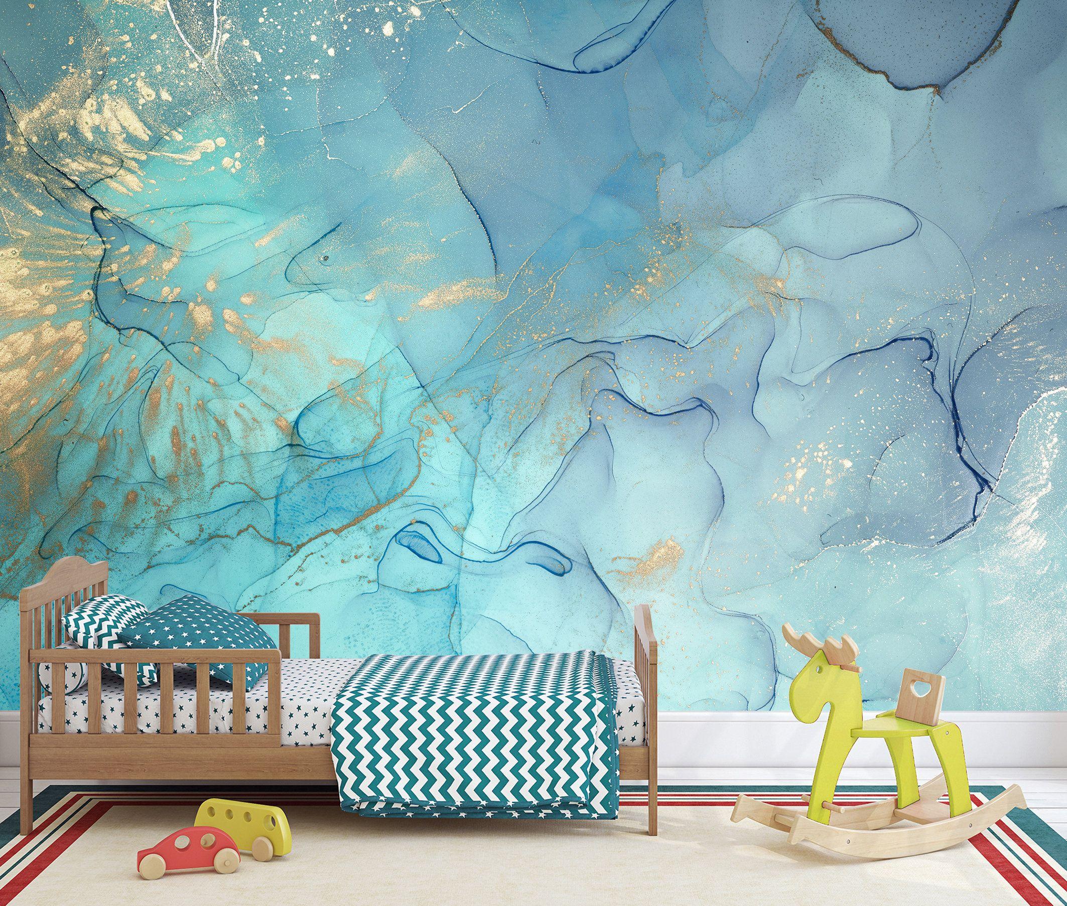 Abstract Wallpaper Modern Design Peel Stick Wall Mural Self Etsy Wall Murals Wallpaper Modern Marble Wall Mural