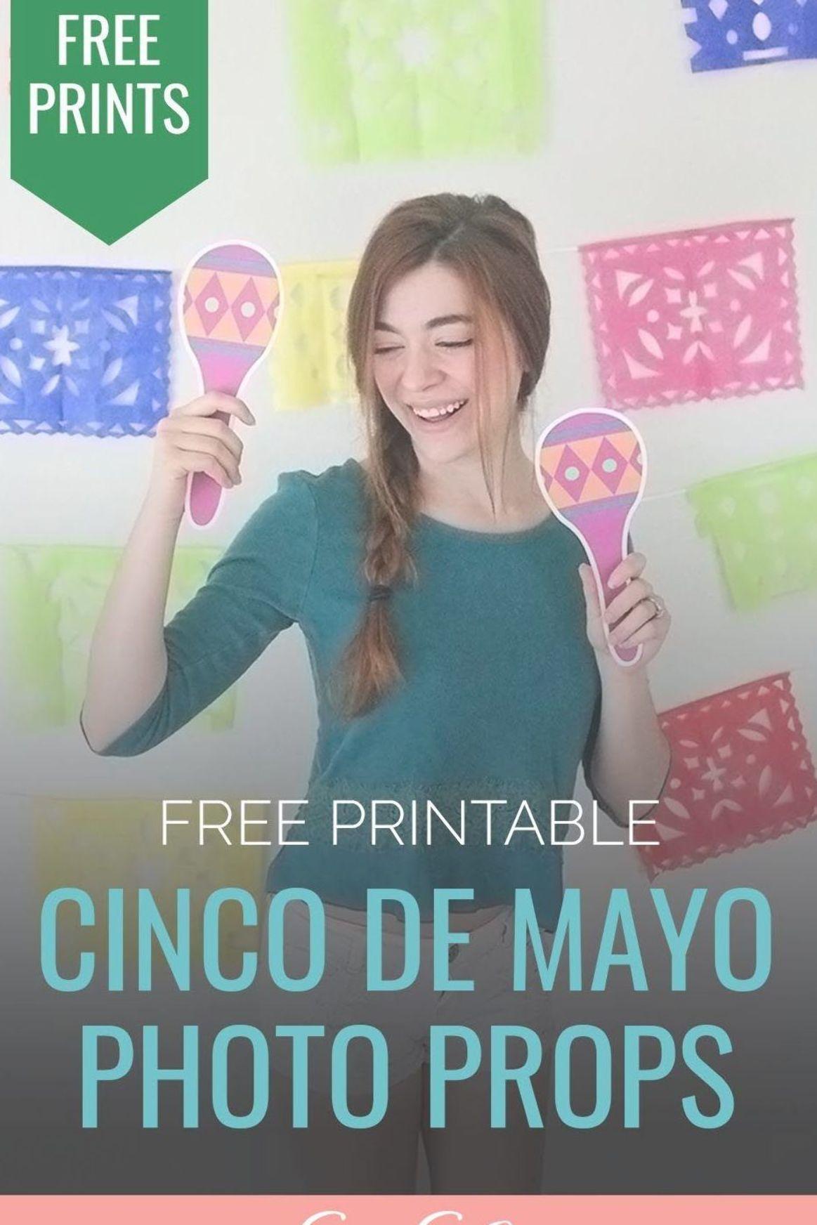 Free Printable Cinco de Mayo Photo Booth Props | Cinco de Mayo Party Decorations…