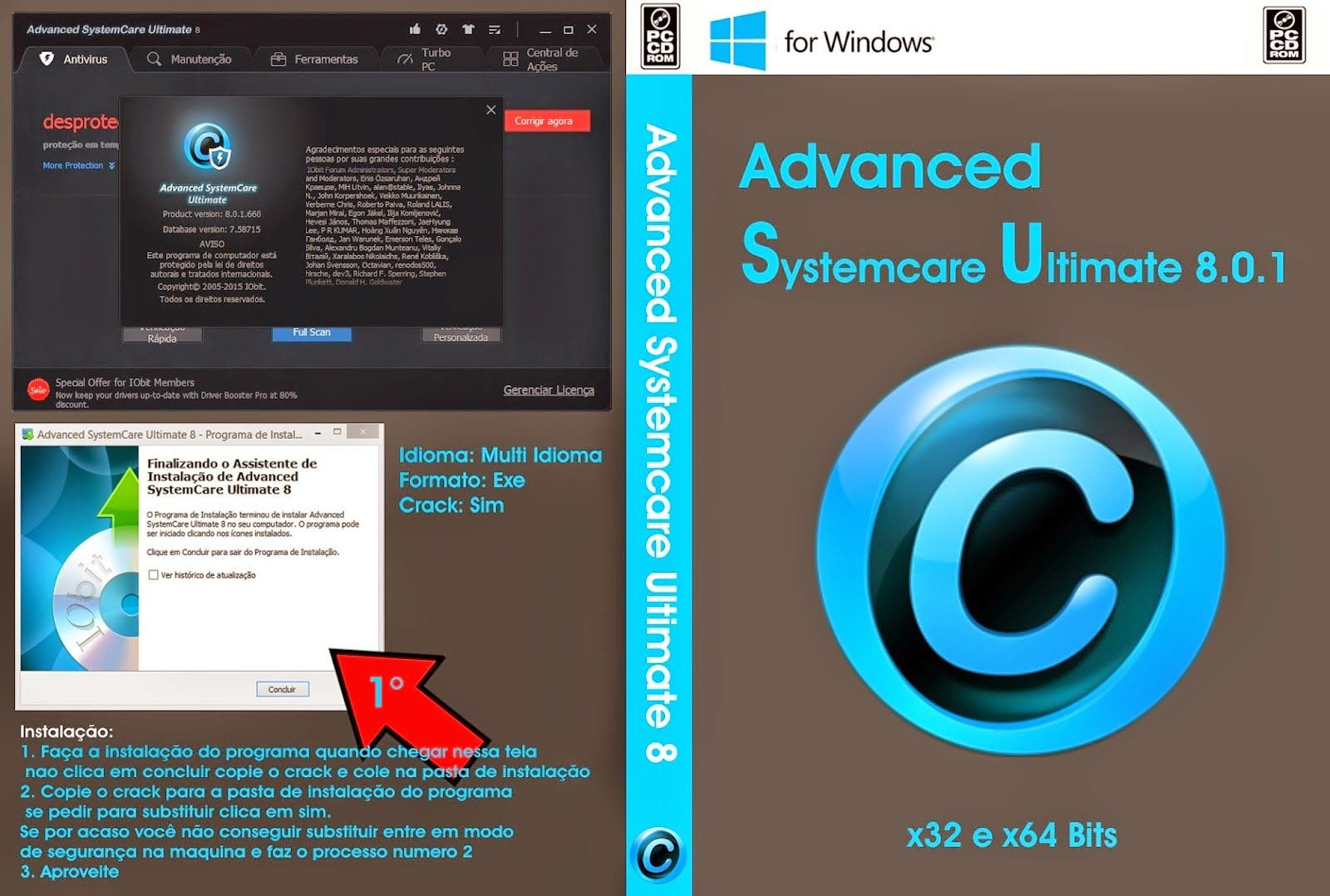 Advanced Systemcare Ultimate 8 0 1 662 Final Licensee Key 2015