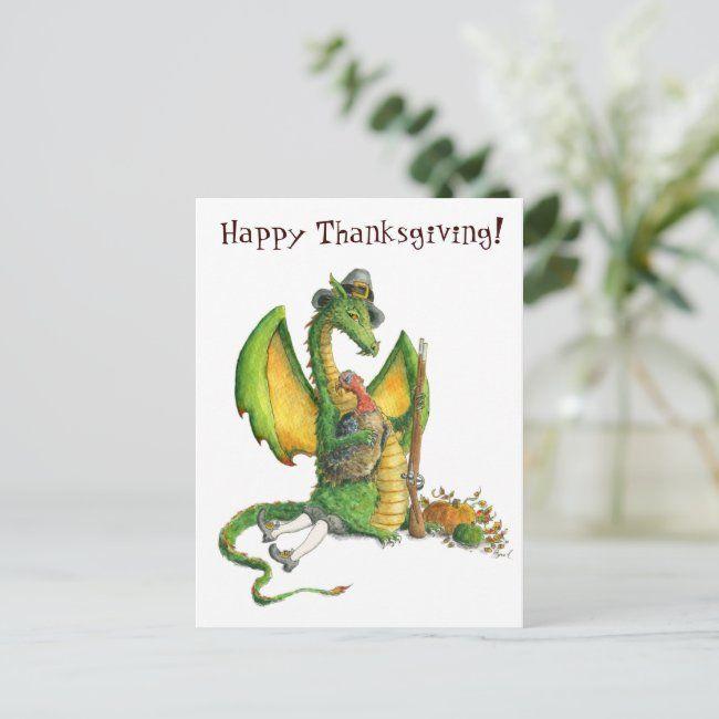 Thanksgiving Dragon postcard | Zazzle.com