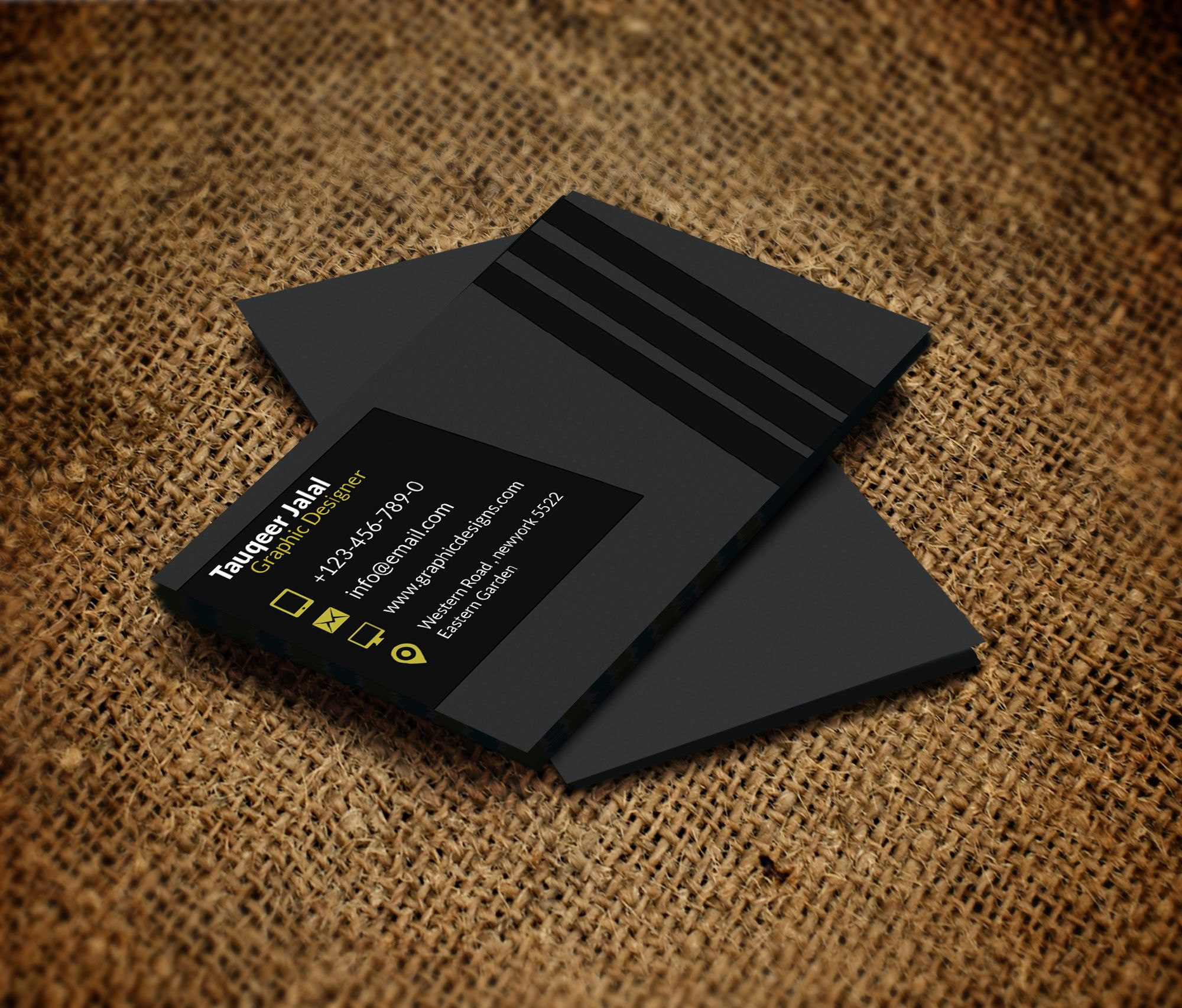 Free Business Card Template PSD For Print Httpwww - Free business card layout template