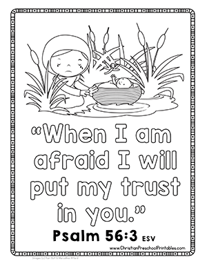 Free Moses Bible Printables! Baby Moses, Burning Bush, 10