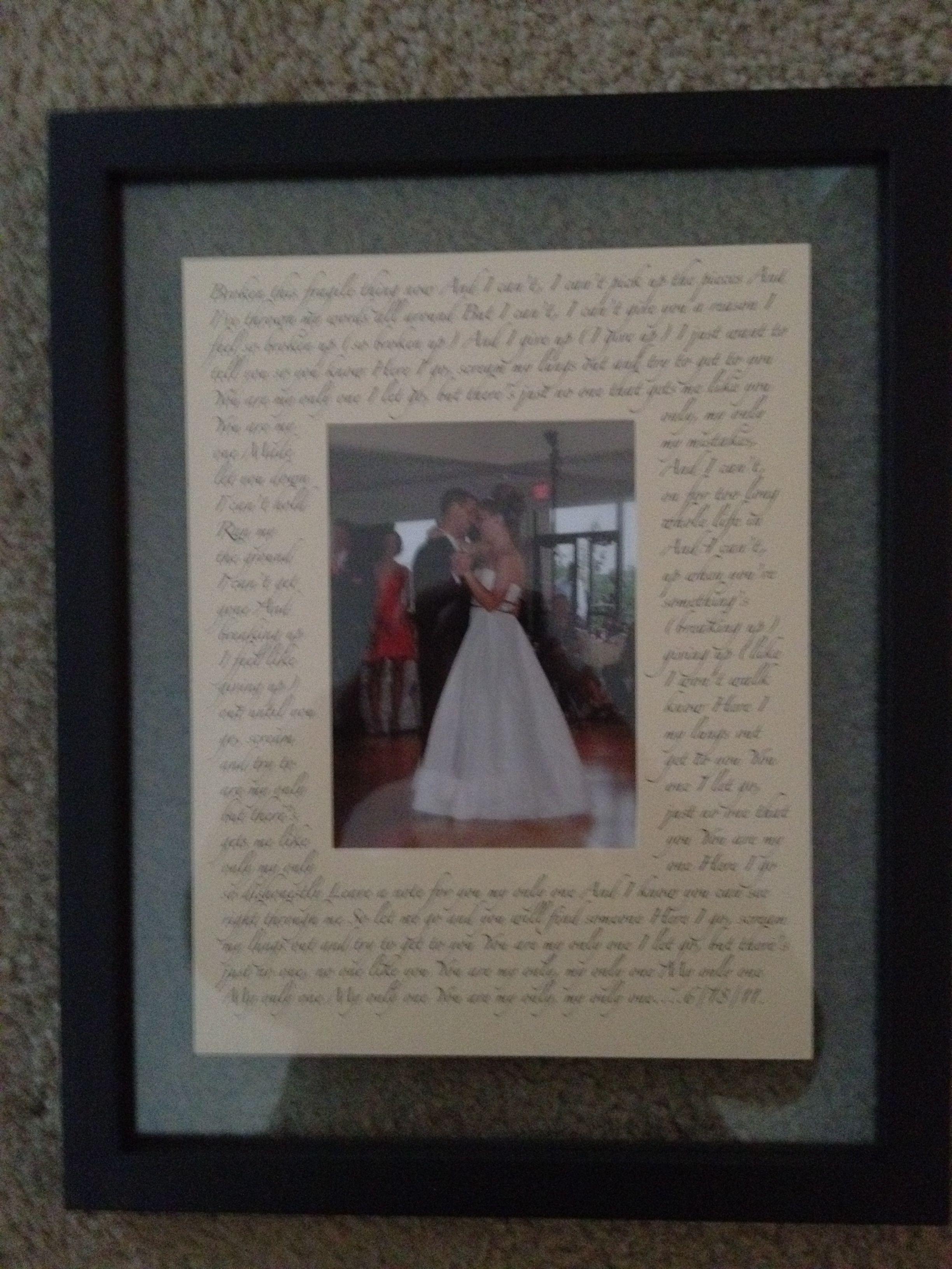 First Dance Lyrics/ Wedding Canvas Photo ... - amazon.com
