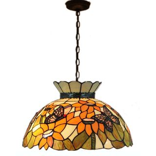 ad4cde9b0e5 Amora Lighting Tiffany-style Style Floral Hanging Lamp by Amora Lighting