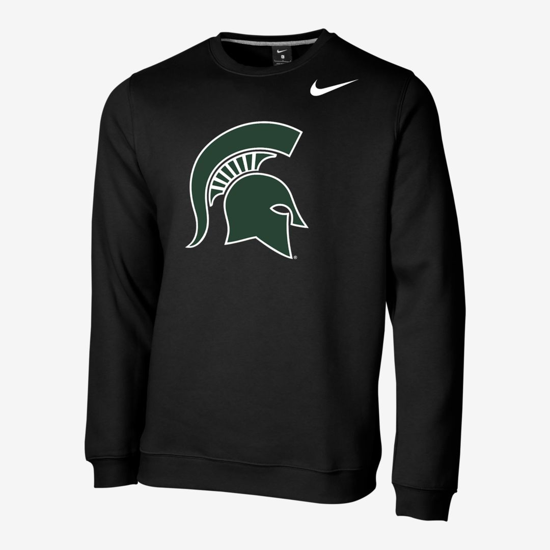 Nike College Club Fleece Texas Men S Crew Nike Com Michigan State College Club Nike [ 1080 x 1080 Pixel ]