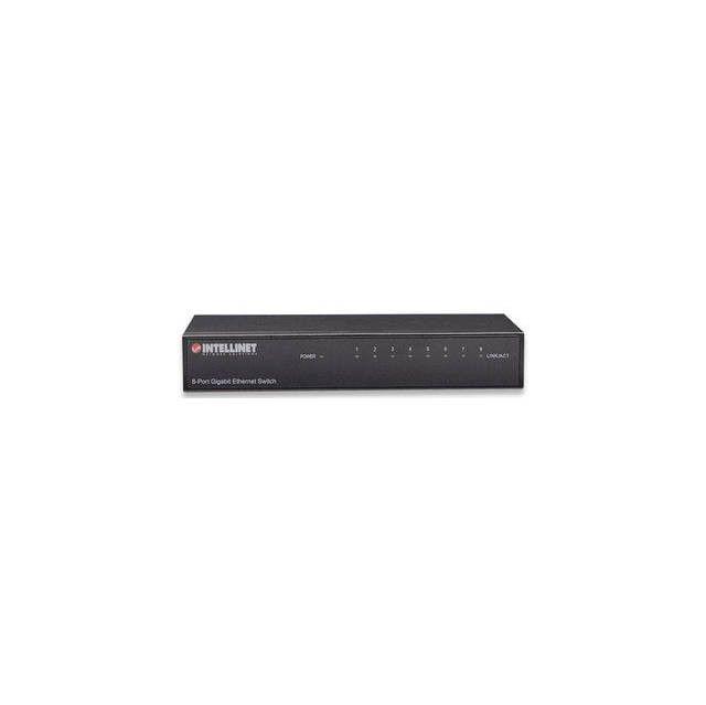 INTELLINET 530347 8-Port Gigabit Ethernet Switch (Metal)