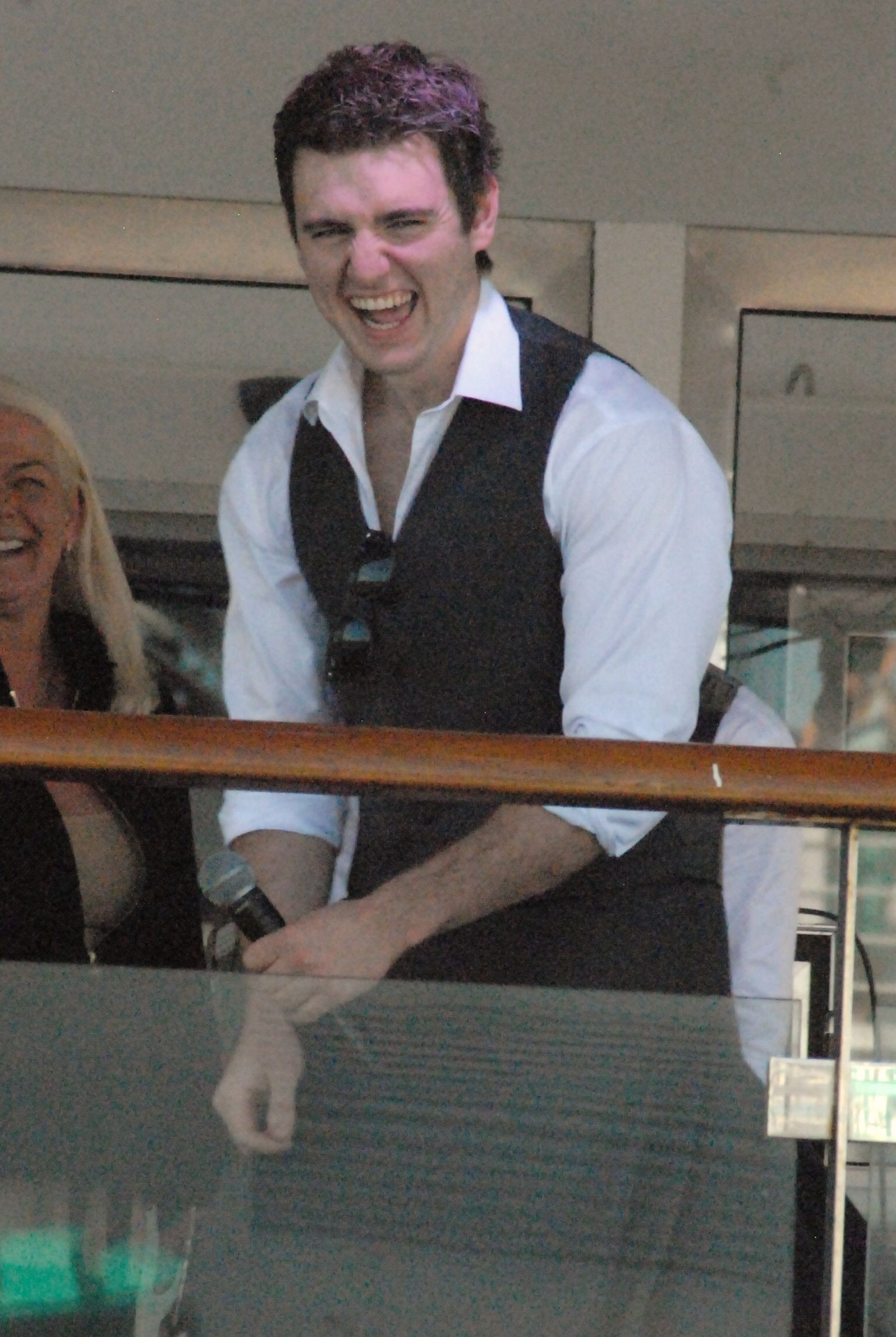 Celtic Thunder Cruise 2013. Mr. Emmet Cahill. Taken by me at the Sail away party
