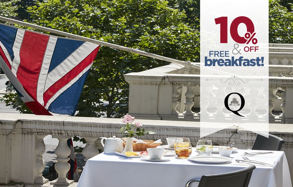 SPECIAL OFFER! Book now online and get a 10% off with complimentary breakfast! #offer #london #kensington #TQG #QueensGate #discount #victorian #design #balcony #UK #outdoors #royal #gardens #view  http://thequeensgatehotel.com/en/index.html