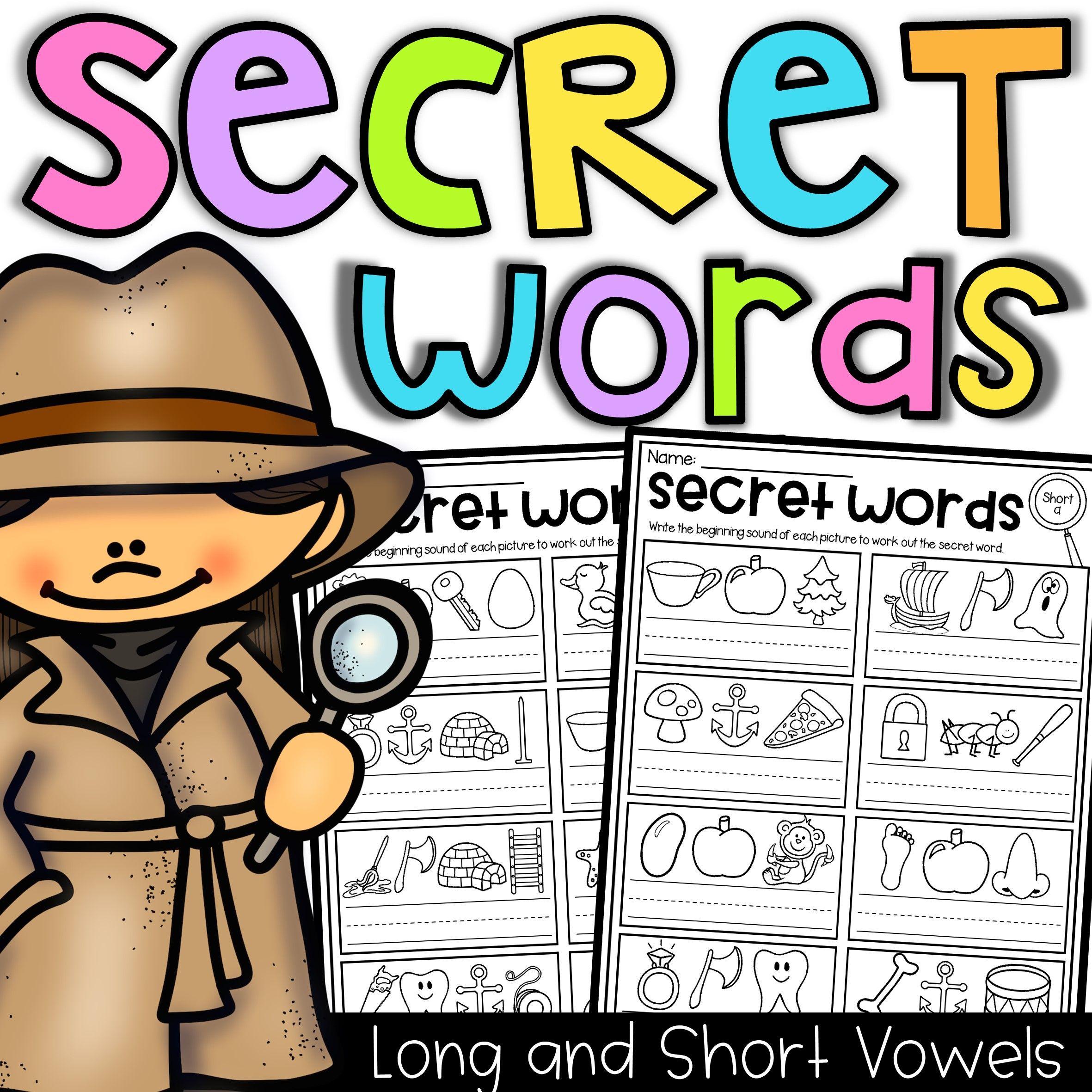 Secret Words Worksheets